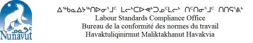 Nunavut Labour Standards Compliance Office